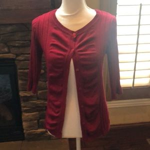 United States Sweaters wine colored cardigan small